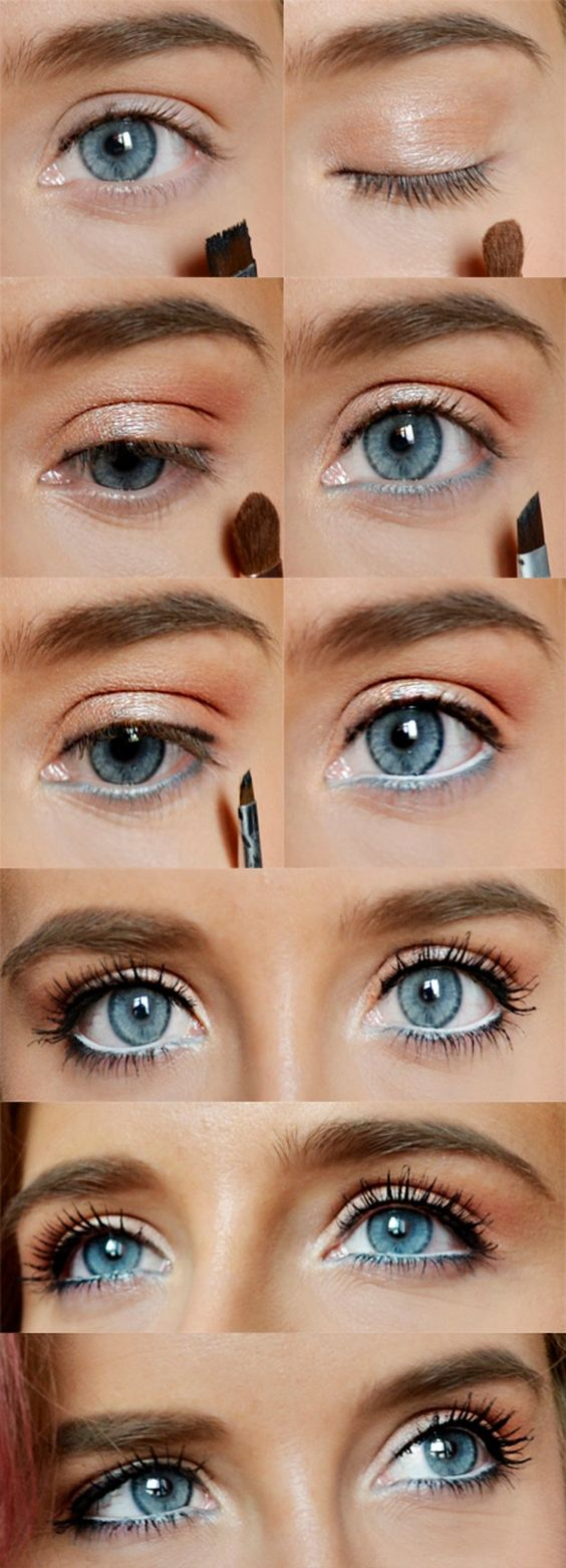makeup ideas for blue eyes tutorial