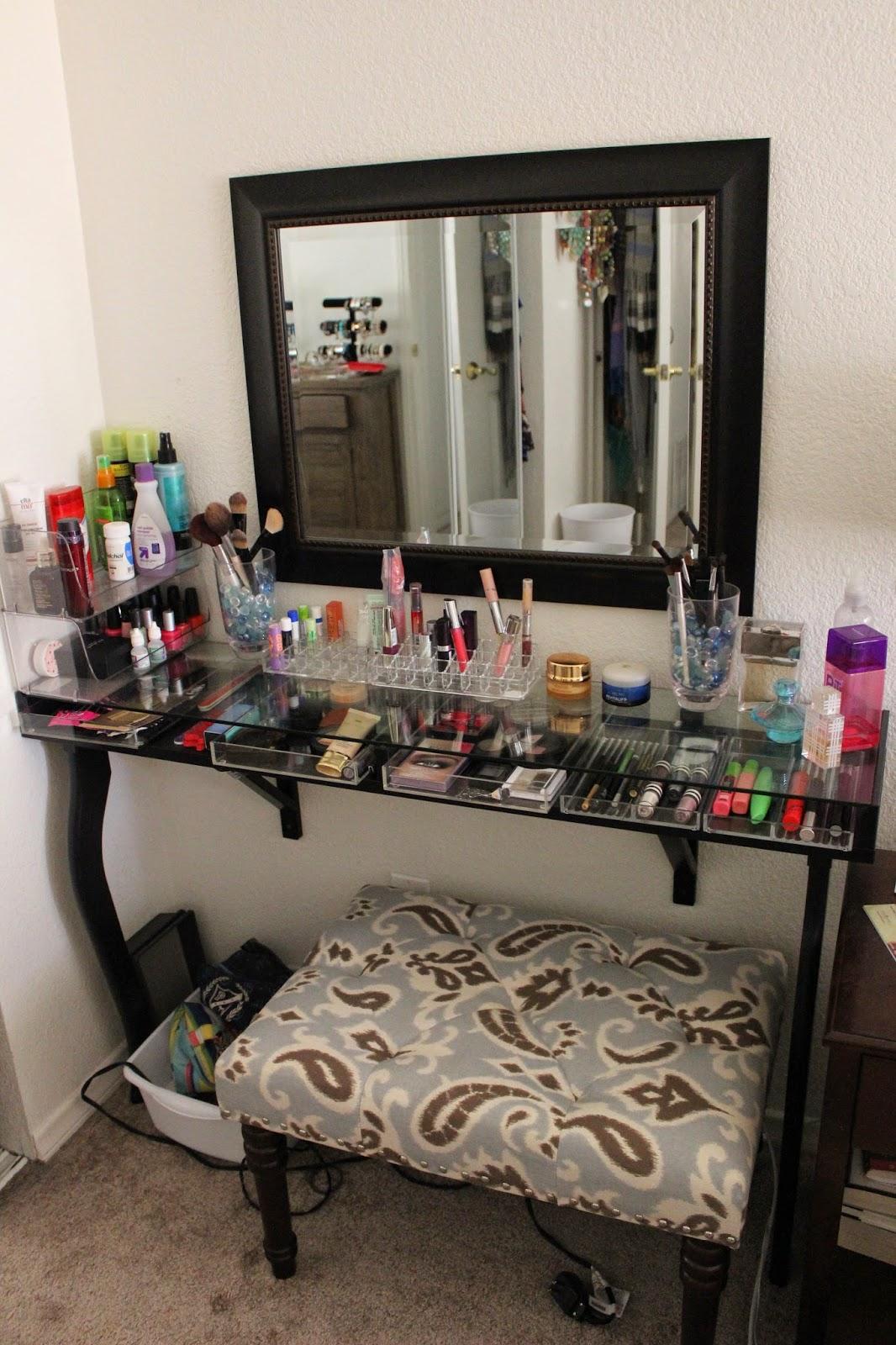 makeup vanity organization ideas diy