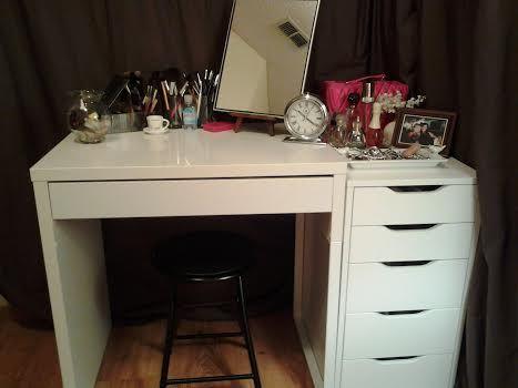 ikea micke desk makeup vanity ideas