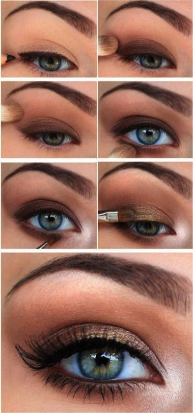 senior picture makeup ideas for brown eyes