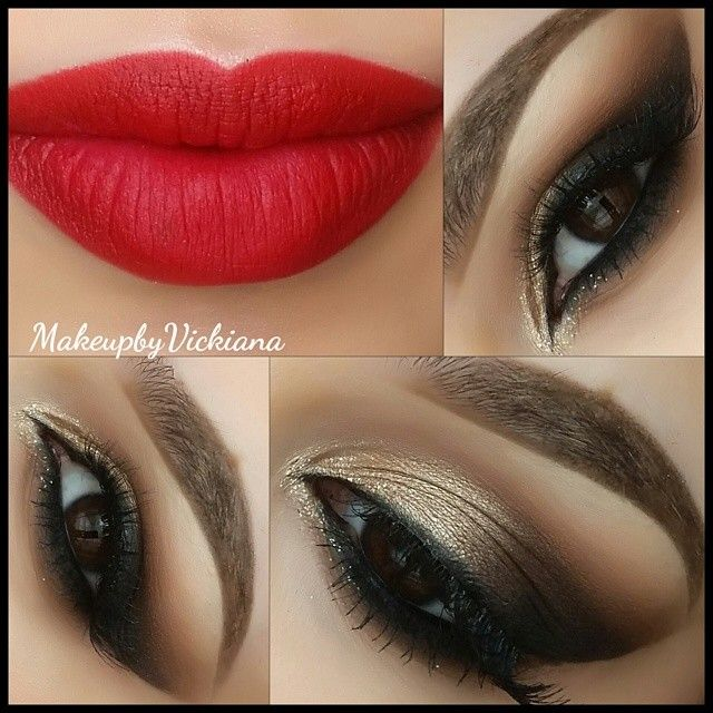 makeup ideas for red and black dress