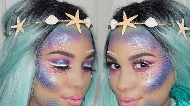 mermaid makeup ideas for little girl