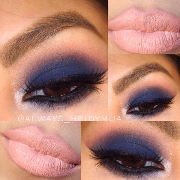navy blue dress makeup ideas