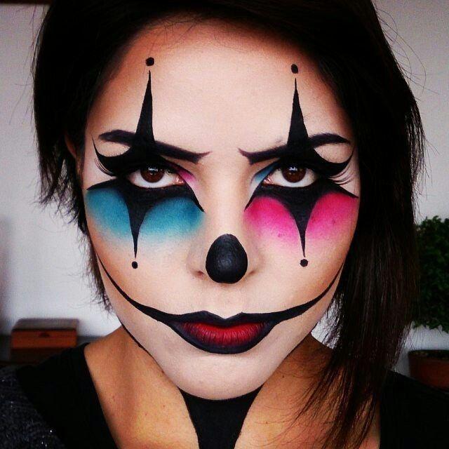 cool clown makeup ideas