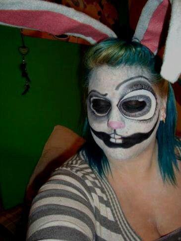 Makeup trends : Best scary bunny halloween makeup ideas