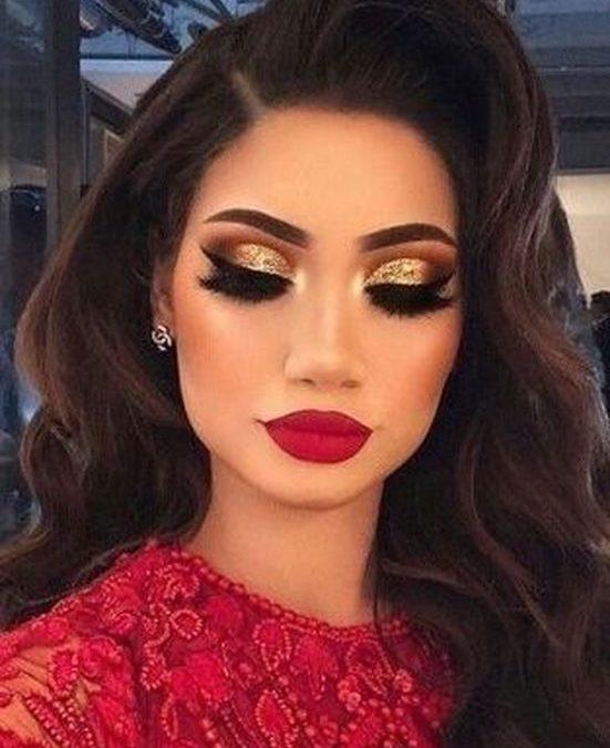 Trends : 22 Best eye makeup ideas for red dress