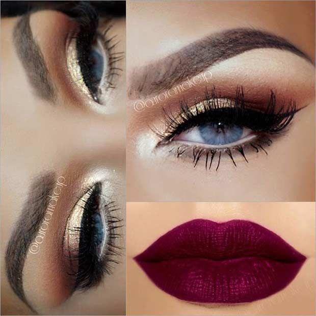Inspo : 19 Best eye makeup tips for blue eyes