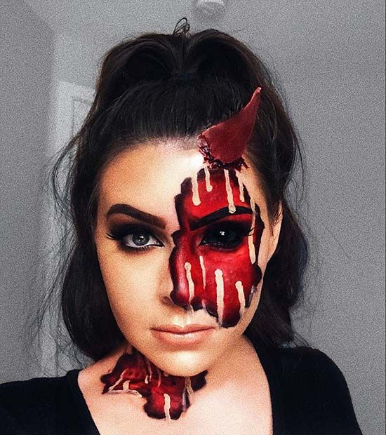 Collection : Best devil makeup ideas for halloween