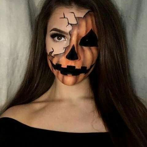 sexy pumkin halloween makeup ideas