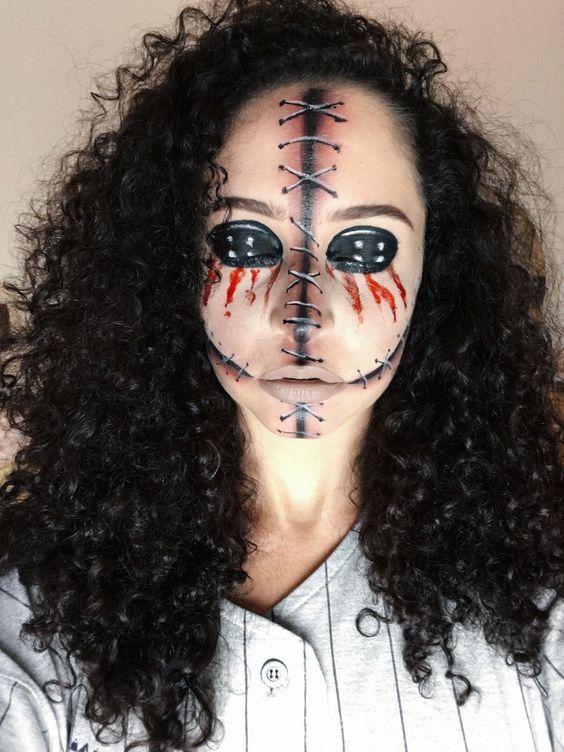 scary creative halloween makeup ideas