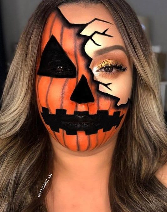 Makeup inspiration : Best sexy pumkin halloween makeup ideas
