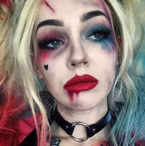 makeup ideas for harley quinn