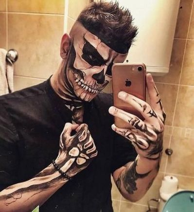 Collection : 23 Best makeup ideas for halloween for guys