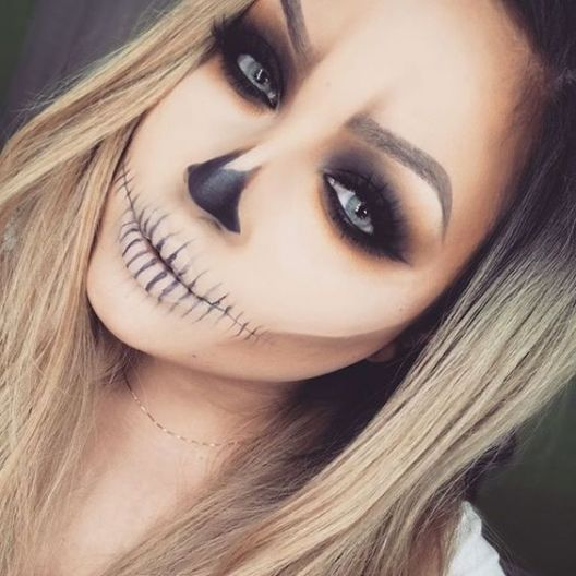 Makeup trends : Best simple halloween makeup ideas 2018