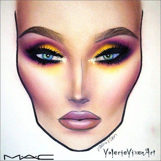 makeup ideas face charts