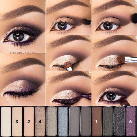 Makeup inspiration : Top eyeshadow makeup for brown eyes tutorial