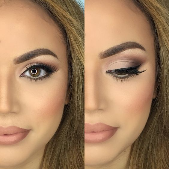 easy natural makeup for brown eyes