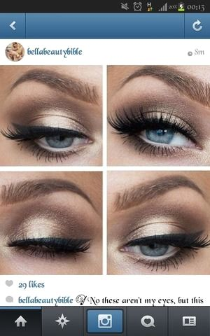 prom makeup ideas for royal blue dress