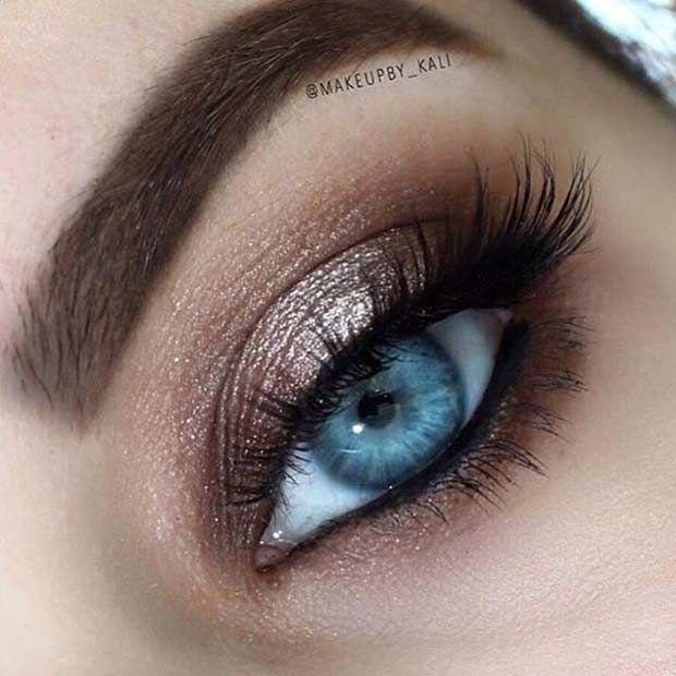 easy makeup tips for blue eyes