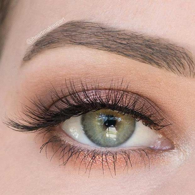 natural eyeshadow looks for green eyes