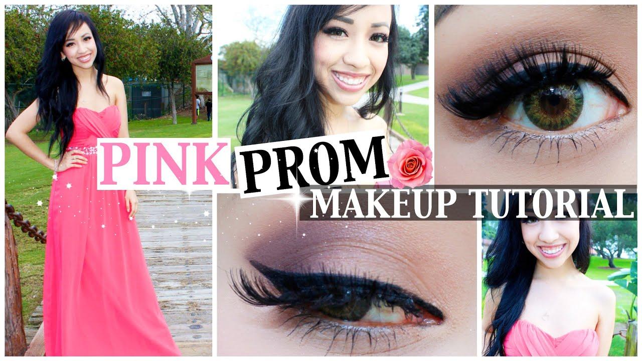 prom makeup ideas for light pink dress