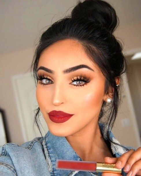 Makeup trends : 25 Best cute makeup ideas with red lipstick