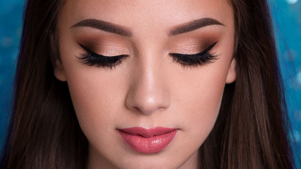 homecoming makeup ideas for red dress