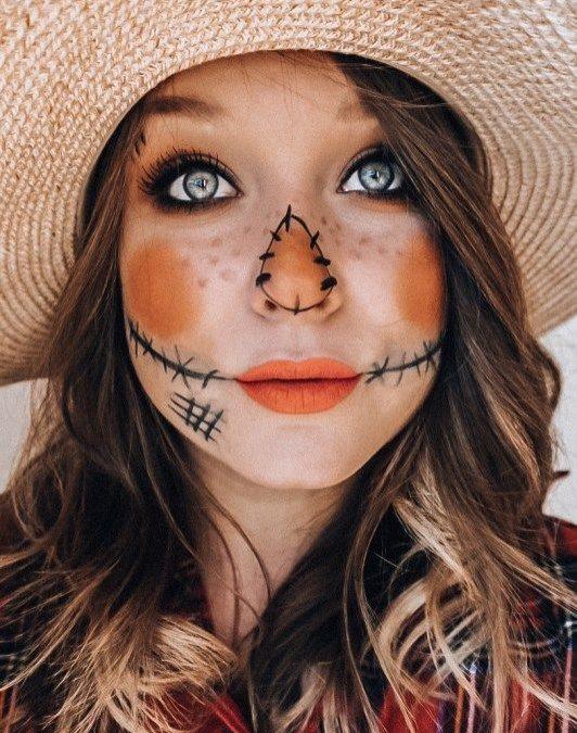 Makeup inspiration : Best scarecrow makeup ideas women