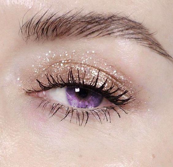 simple glitter makeup ideas