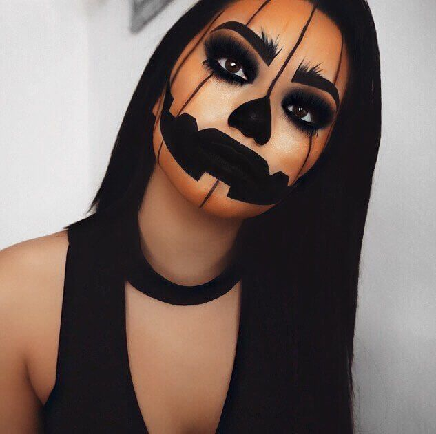scary halloween makeup easy to do