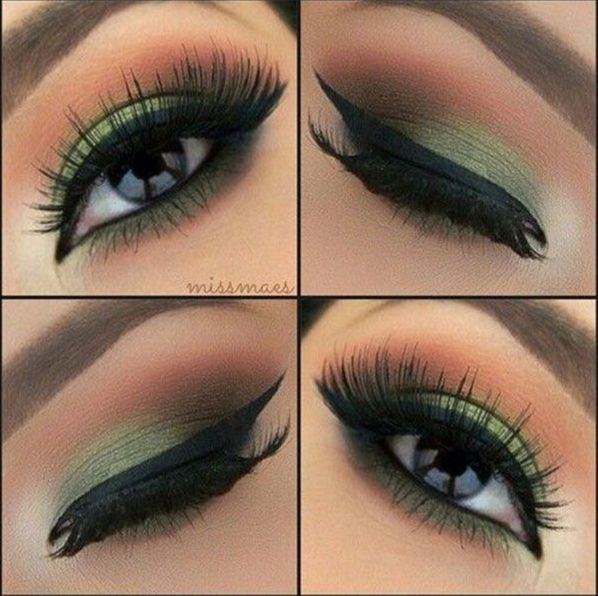 simple makeup ideas for green eyes