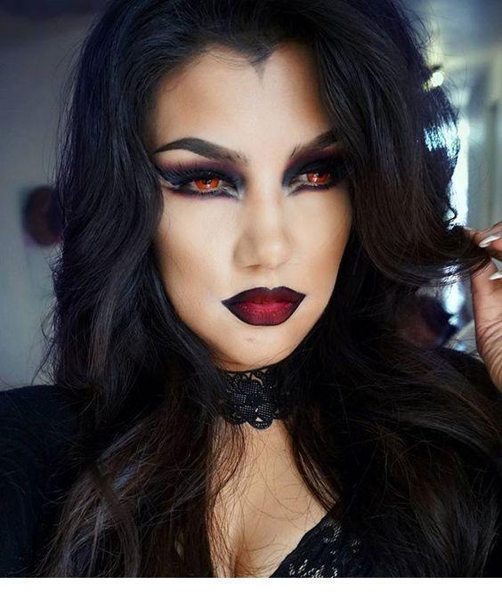 makeup ideas for halloween vampire