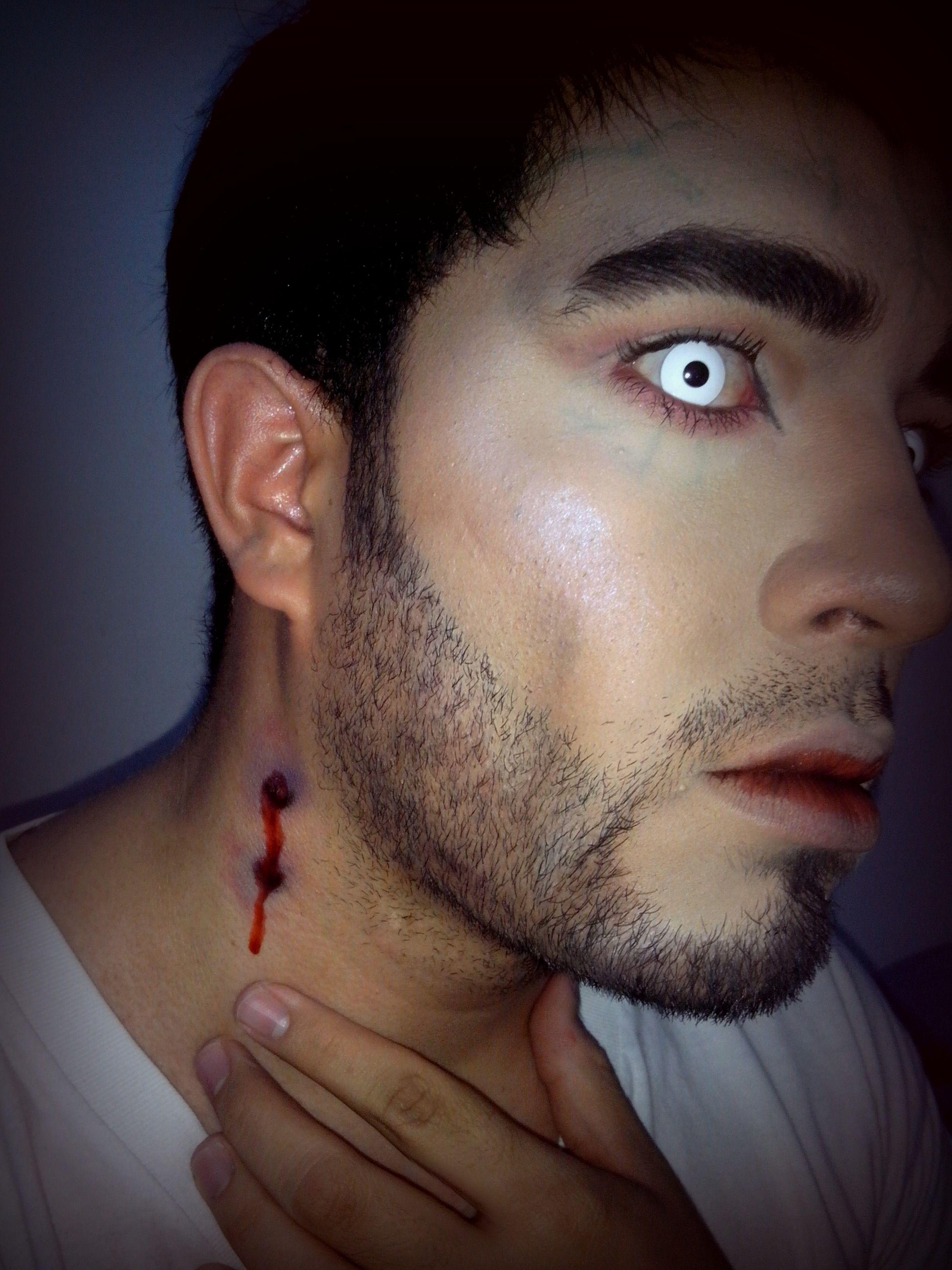 easy vampire makeup for male