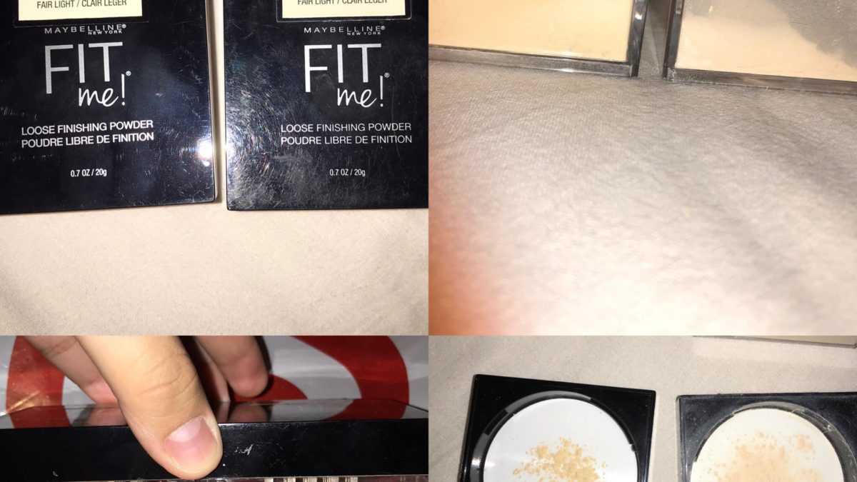 MAYBELLINE FIT ME LOOSE POWDER, has there been a color change?  I went and got a new powder, the same shade and everything and when I got home and put them side by side I realized one was a lot hotter than the other.