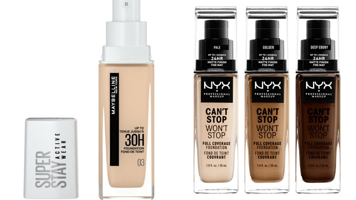 Which one lasts longer and provides better coverage: Maybelline Superstay Active Wear 30 hours or NYX Can't Stop Won't Stop?
