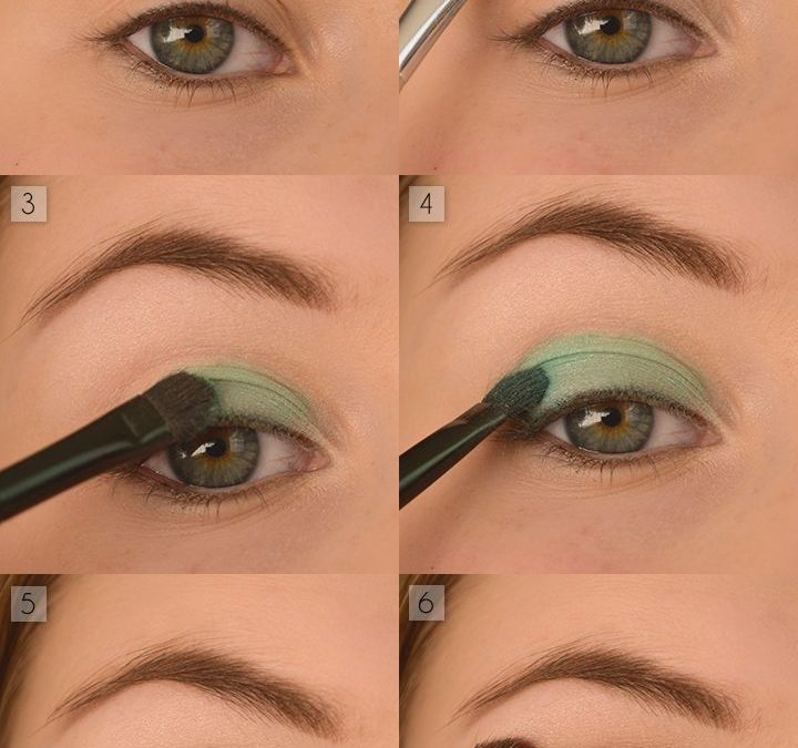 6 steps green eye shadow, how easy do you think?