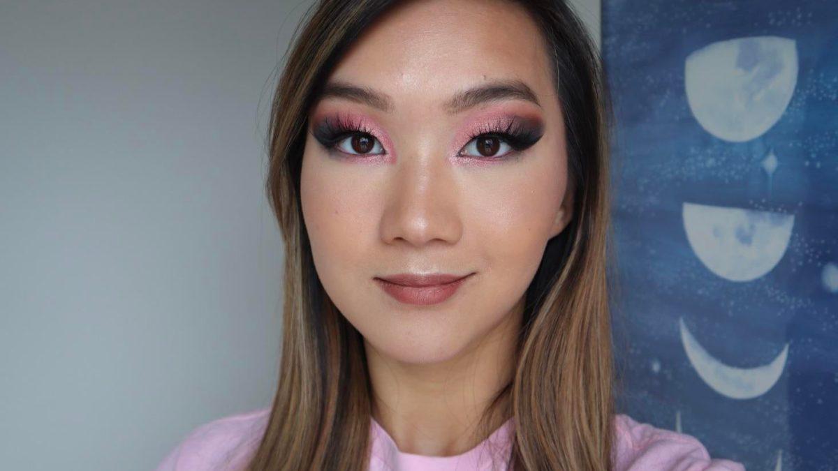 Pink + black eyeshadow for changing